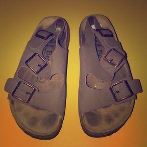 Betula Birkenstock Brown Leather Milano Sandals 7